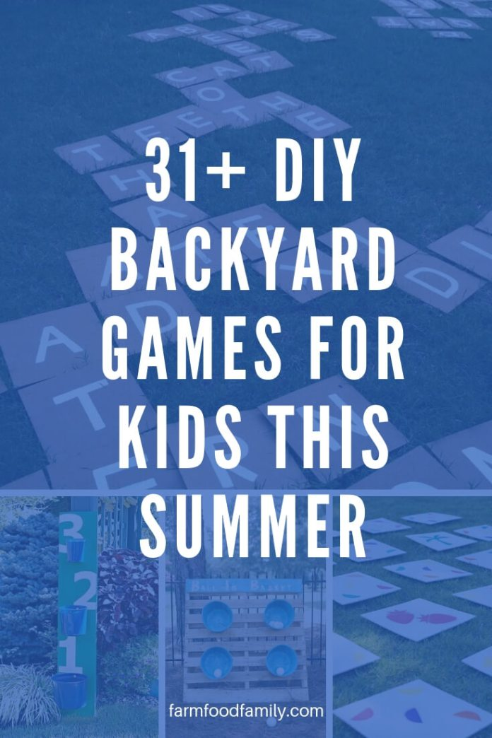 31+ DIY Backyard Games for Kids This Summer