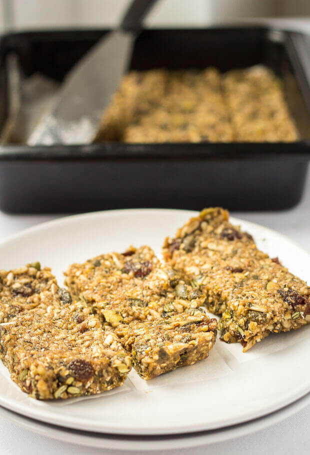 No bake banana energy bars