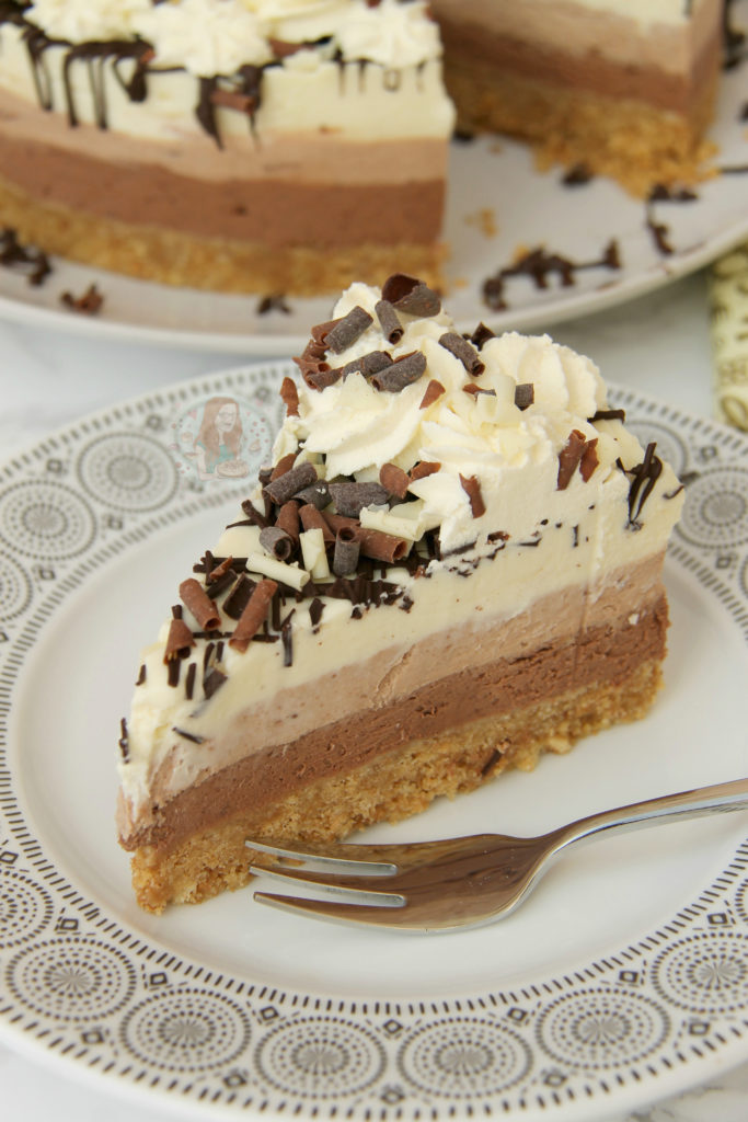 No-Bake Triple Chocolate Cheesecake
