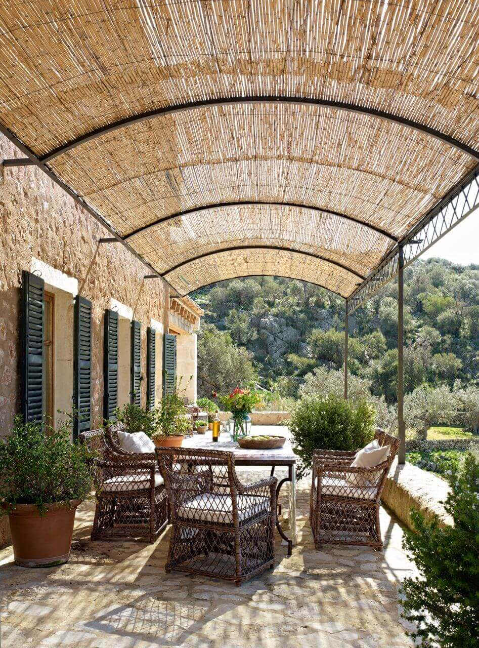 DIY Pergola Ideas: Island Thatching Pergola Cover
