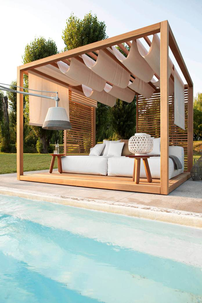 DIY Pergola Ideas: Polynesian Bliss Poolside Pergola