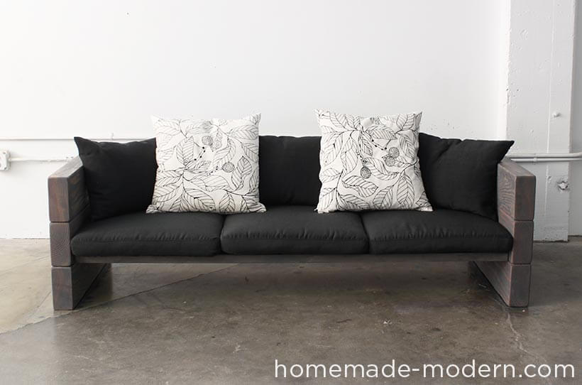 DIY Outdoor Furniture Projects: Outdoor Abode Buildable Rustic Sofa