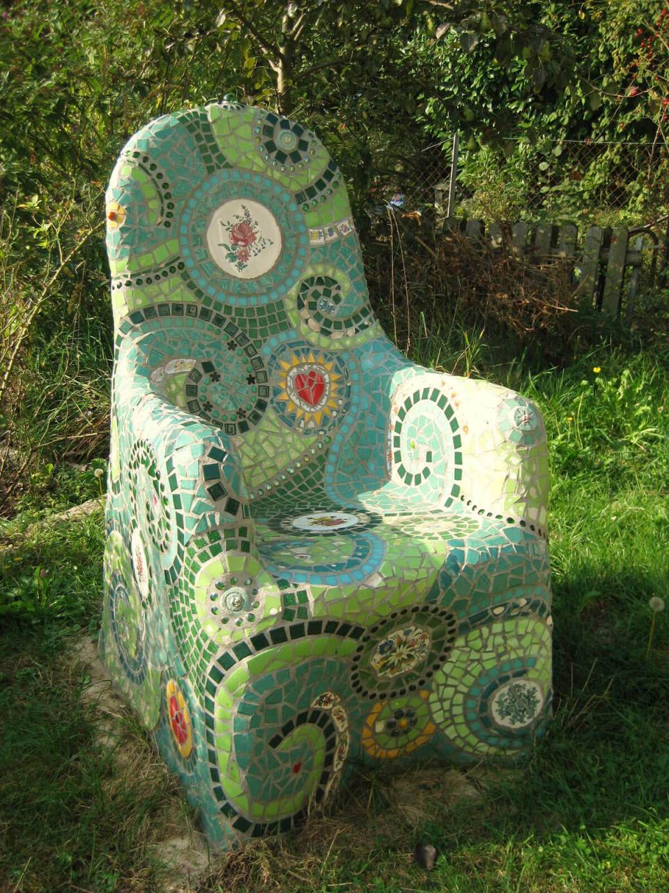 Mosaic Clay Outdoor Garden Chair