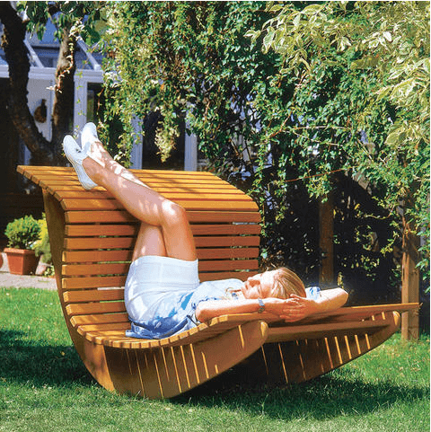 DIY Outdoor Furniture Projects: Summer Waves Wooden Chaise Recliner