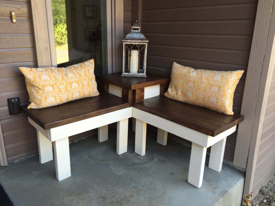 DIY Outdoor Furniture Projects: Newport Nuance DIY Corner Bench With Table