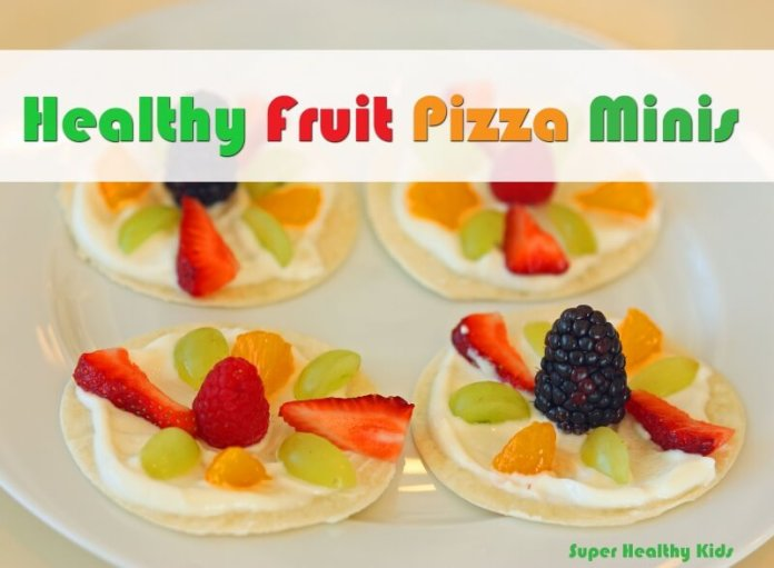 Healthy Fruit Pizza Minis