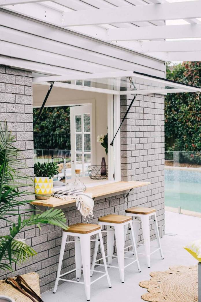 DIY Pergola Ideas: Bistro Corner Bar Pergola