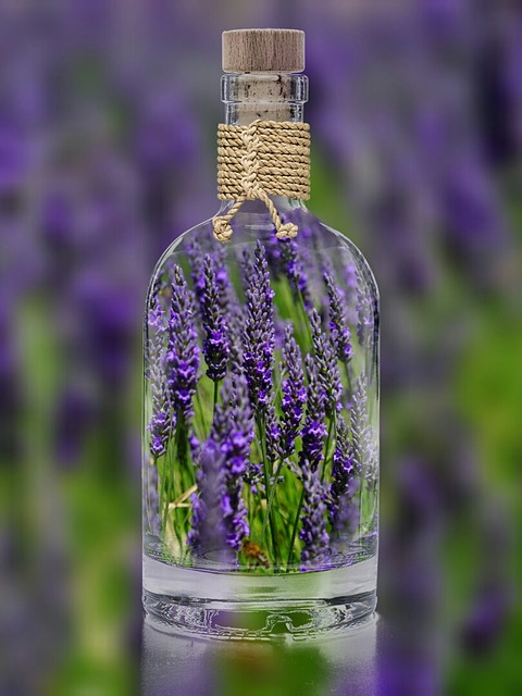 Lavender in bottle