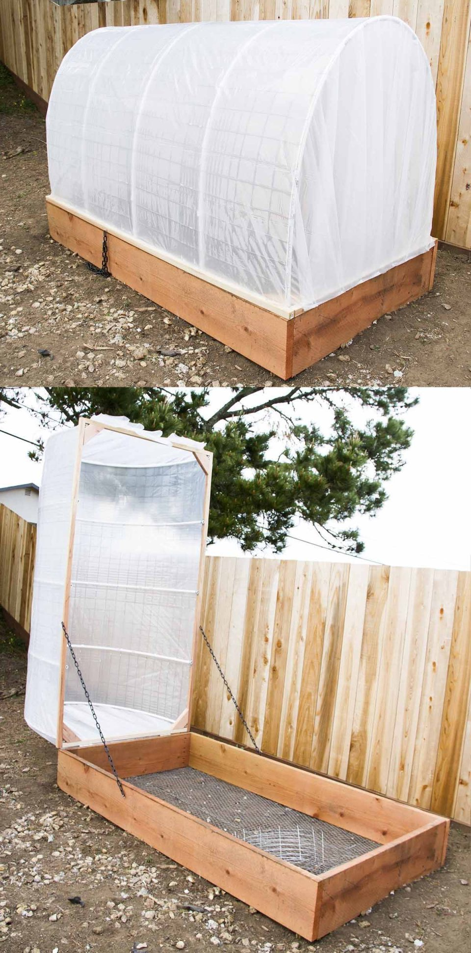 A Rectangular Garden With a Pop-Top Design | Build a beautiful outdoor greenhouse | Creative Greenhouse DIY plans