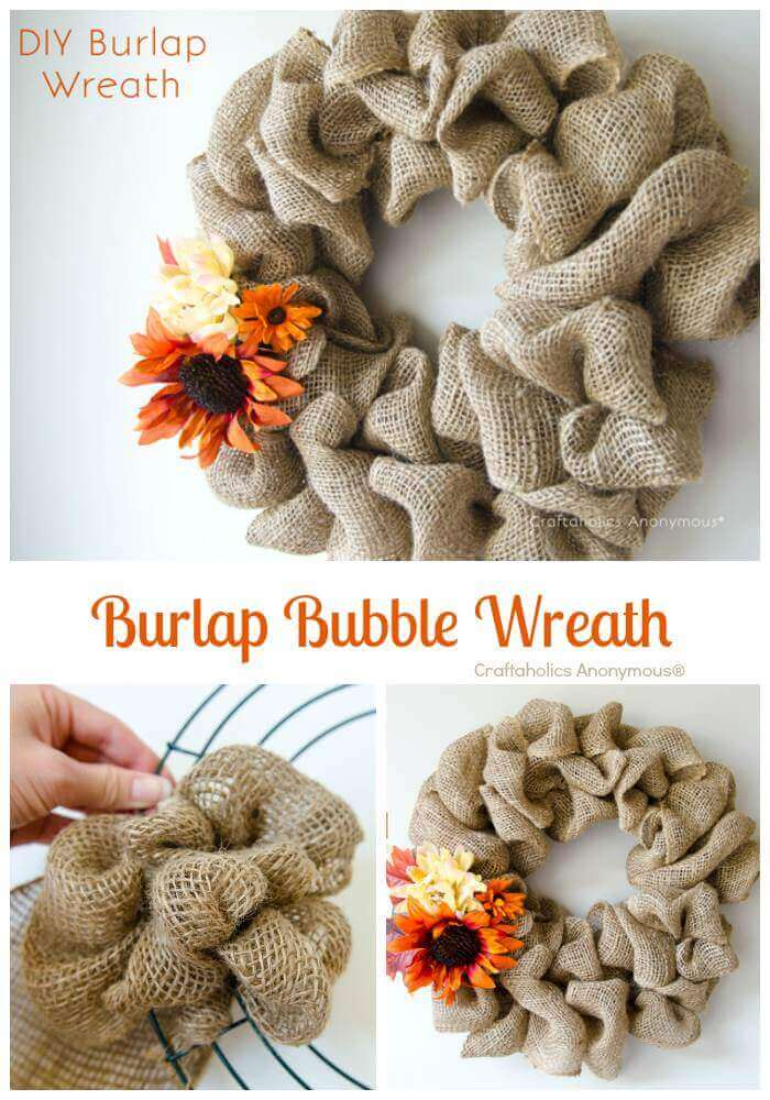 Ruffled Burlap with Pretty Petals