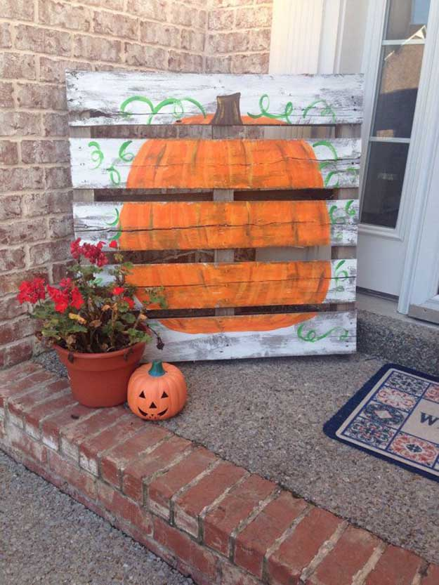 A New Take on the Classic Pumpkin | Fall Porch Decoration Ideas | Porch decor on a budget