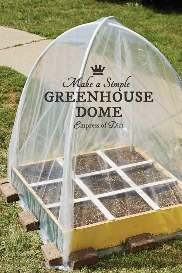 A Dome-Shaped Green House with Small Plots | Build a beautiful outdoor greenhouse | Creative Greenhouse DIY plans
