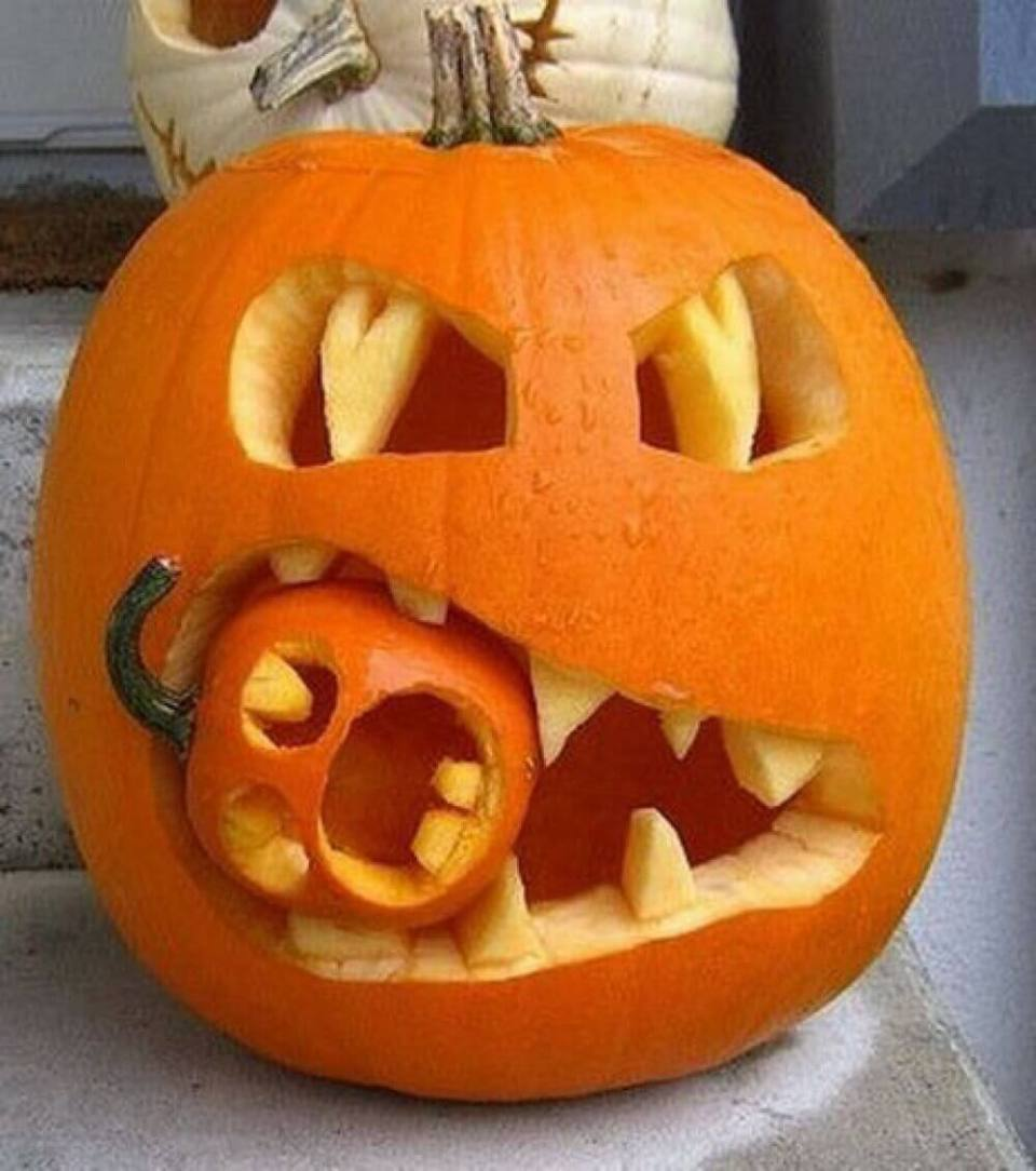 DIY Pumpkin Carving Ideas: Hungry Monster