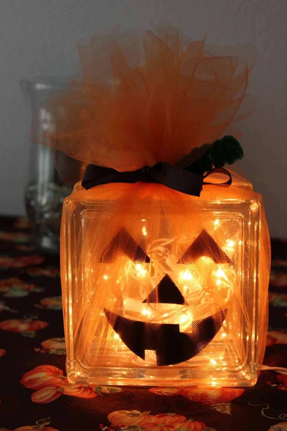 Glass Pumpkins Still Shine Bright | DIY Indoor Halloween Decorating Ideas
