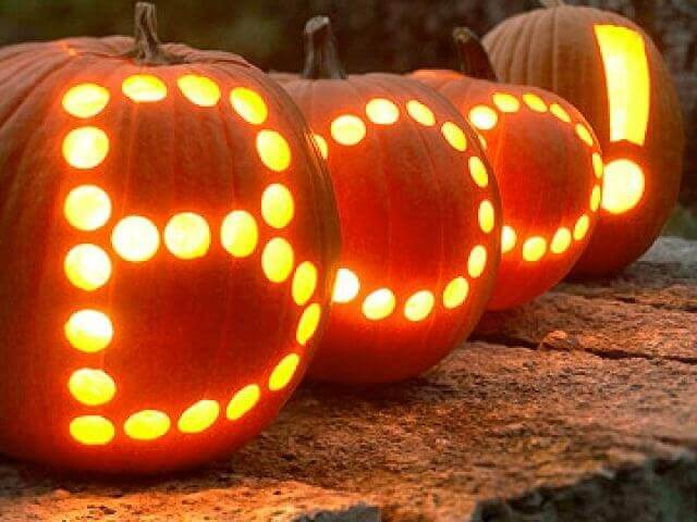 DIY Pumpkin Carving Ideas: Easy Spelling
