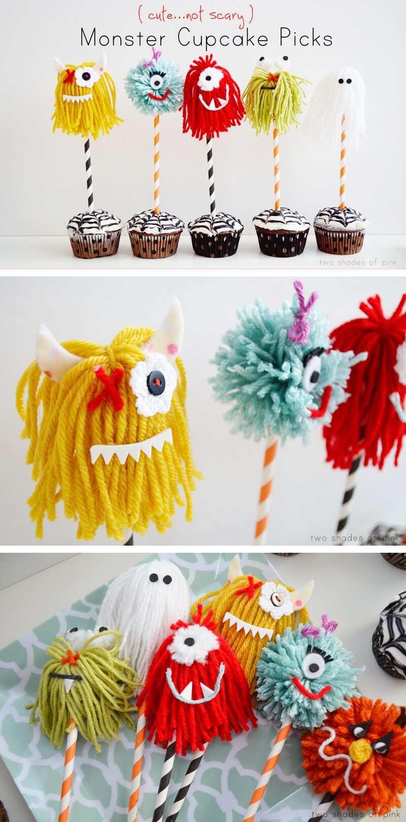 Cheering for Monster Cupcakes | Awesome DIY Halloween Party Decor | BHG Halloween