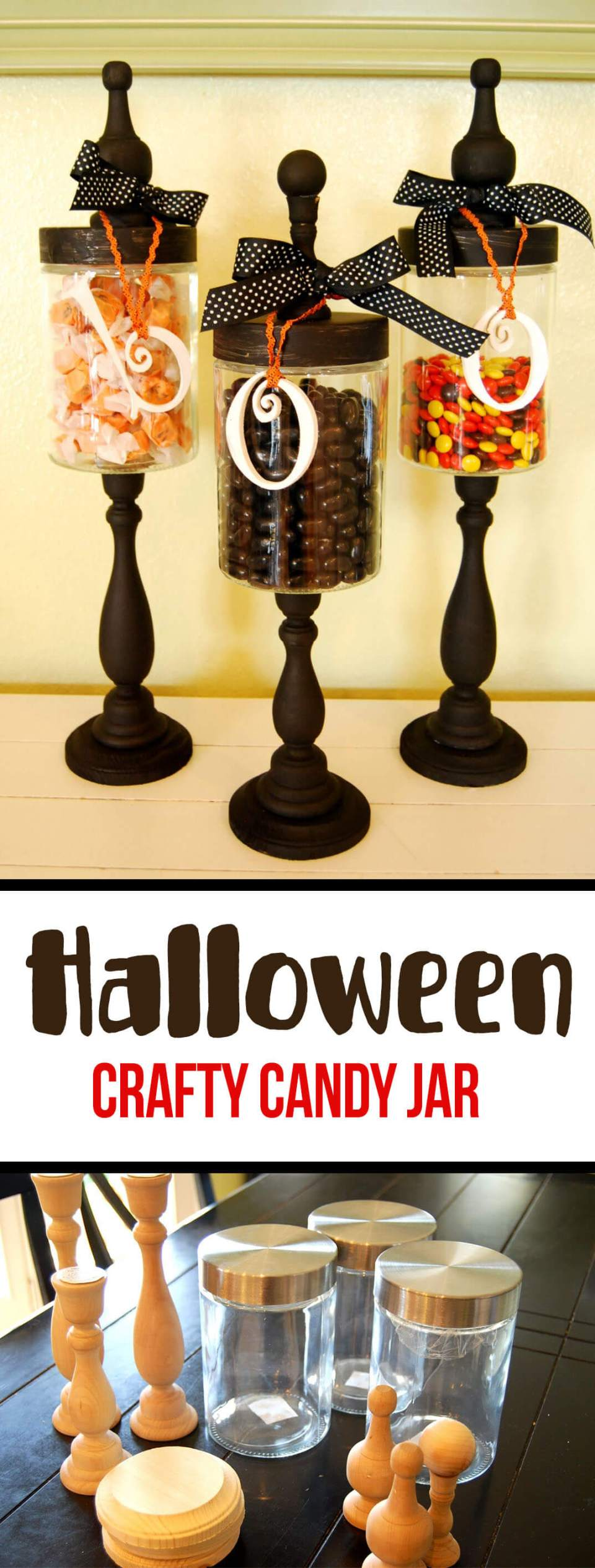 DIY Mason Jar Halloween Crafts: DIY Wicked Witch Storage Jars