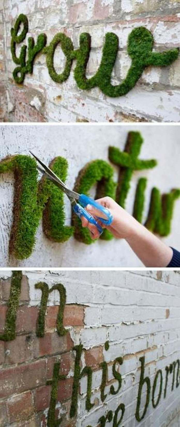 Unique Garden Sign Idea with Moss | Funny DIY Garden Sign Ideas