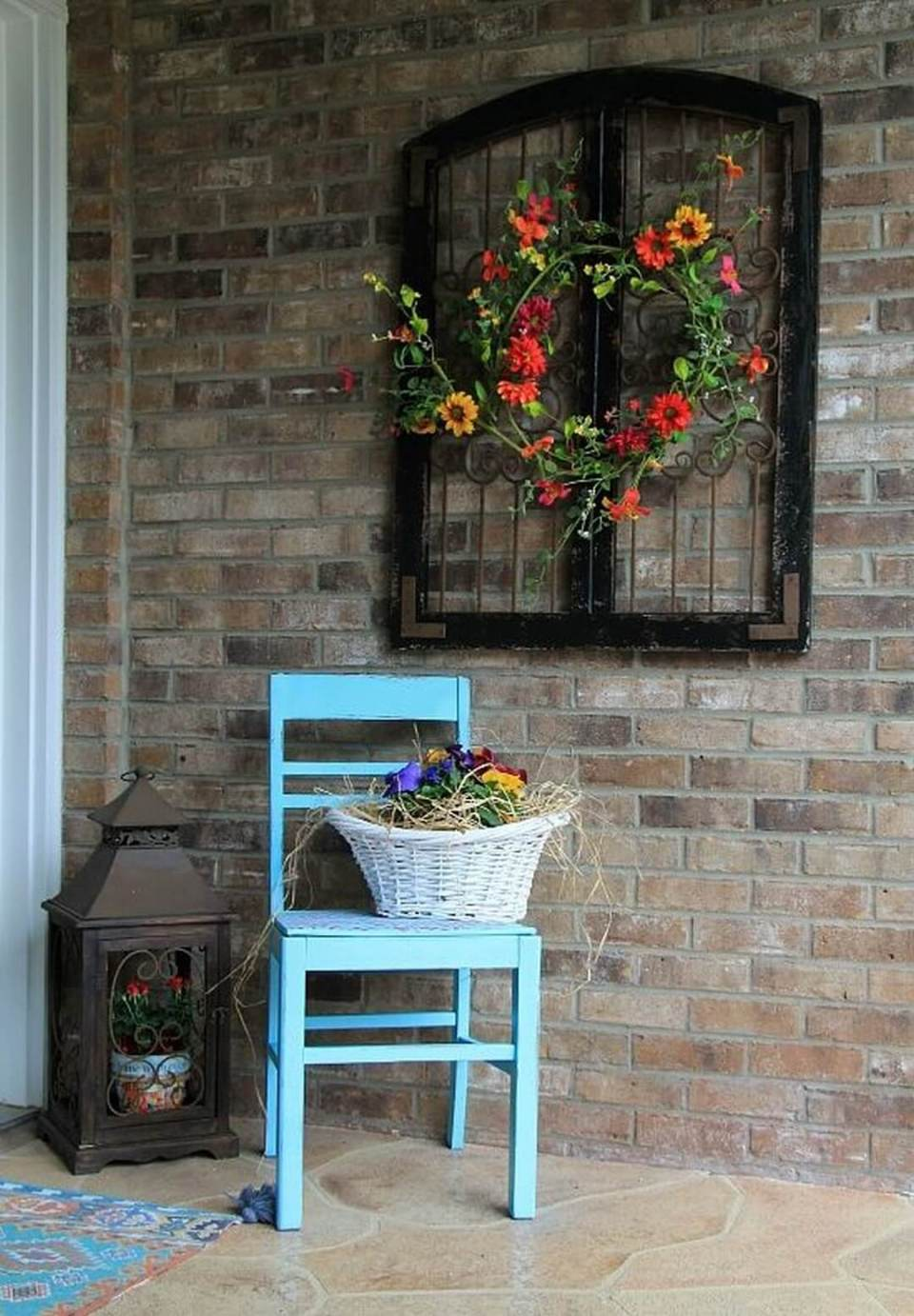 Elegant Upcycled Lead Window Accent | Vintage Porch Decor Ideas