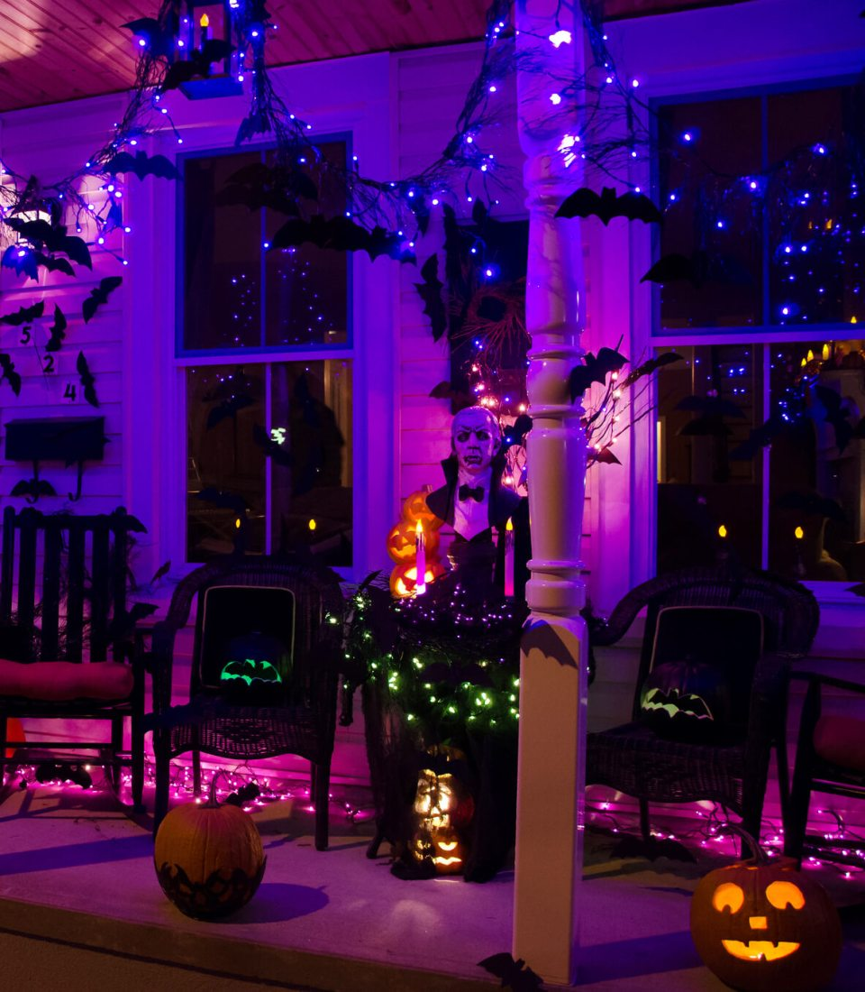 51+ Spooky DIY Halloween Front Porch Decorating Ideas This ... on Patio Decorating Ideas With Lights  id=68305