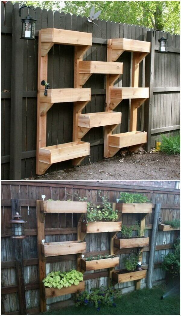 DIY Tiered Wood Planter Boxes