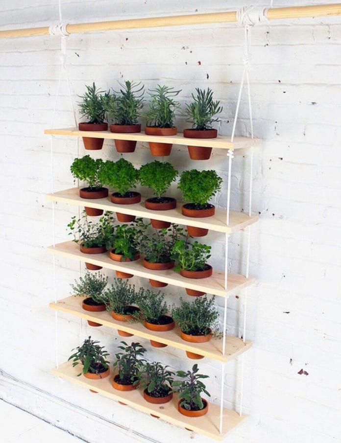 Easy to Make Hanging Herb Garden | DIY Outdoor Hanging Planter Ideas | Plant Pot Design Ideas