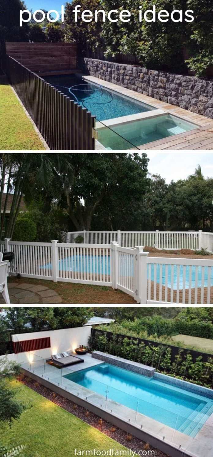 Pool fence ideas for backyard
