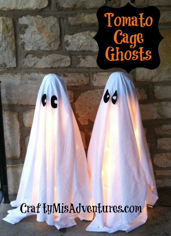 Cute Ghosts This Halloween | Scary DIY Halloween Porch Decoration Ideas | vintage halloween porch