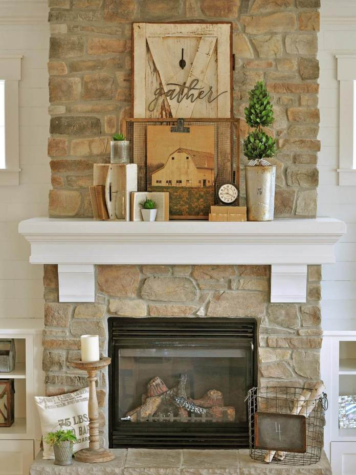Gather at the Homestead to Celebrate Fall   Fall Mantel Decorating Ideas For Halloween