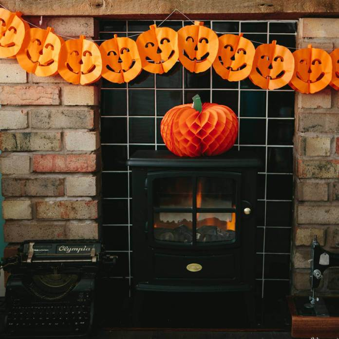Banners of Pumpkins | Awesome DIY Halloween Party Decor | BHG Halloween