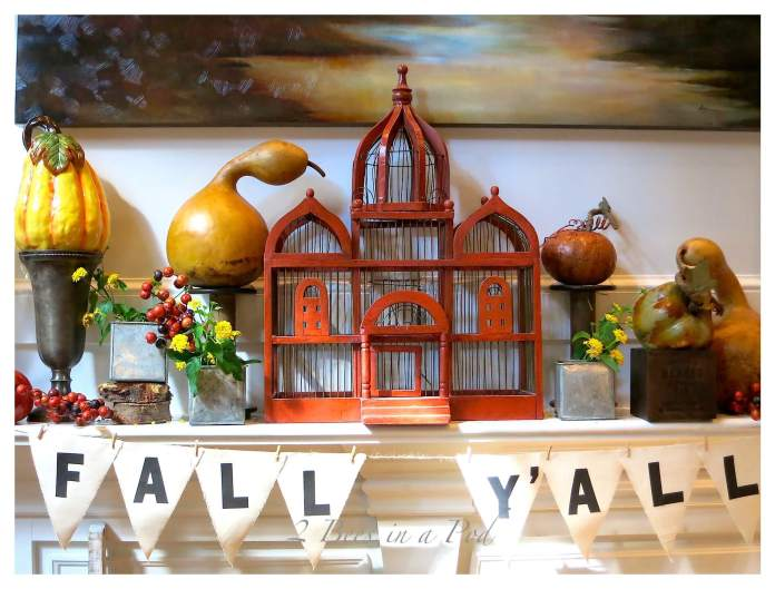 Give Thanks for The Fall   Fall Mantel Decorating Ideas For Halloween