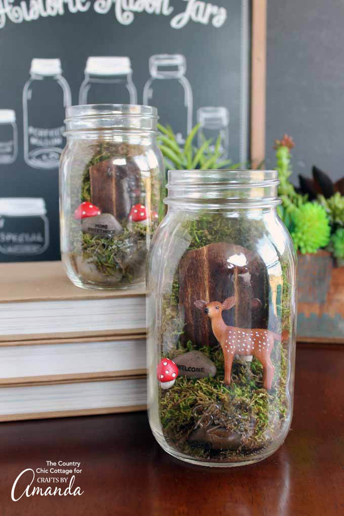 Fairyland Mason Jar Terrarium | fairy garden accessories | miniture fairy garden ideas inspiration | homemade fairy garden decorations