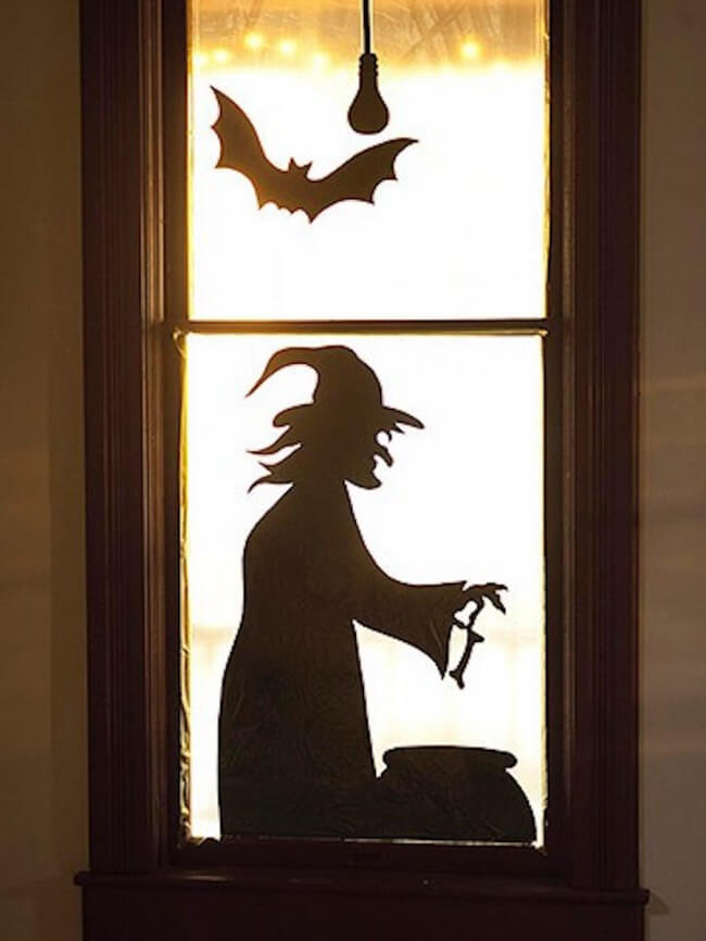 Bubble, Bubble, Toil, and Trouble | DIY Halloween Window Decoration Ideas