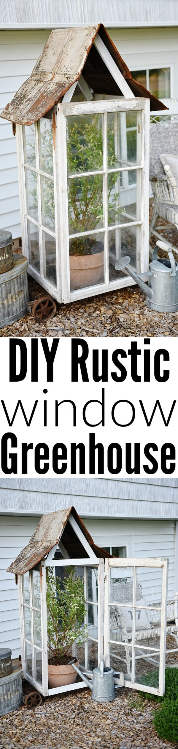 A Single- Sized Rustic Green House For Plants | Build a beautiful outdoor greenhouse | Creative Greenhouse DIY plans