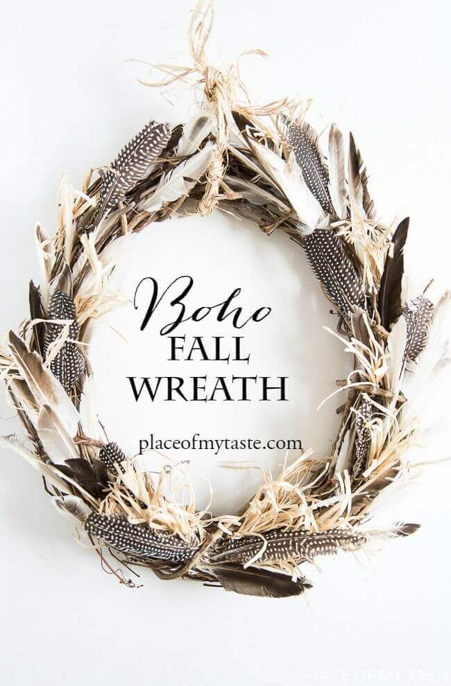 Easy Breezy Bohemian Inspired Fall Feathers