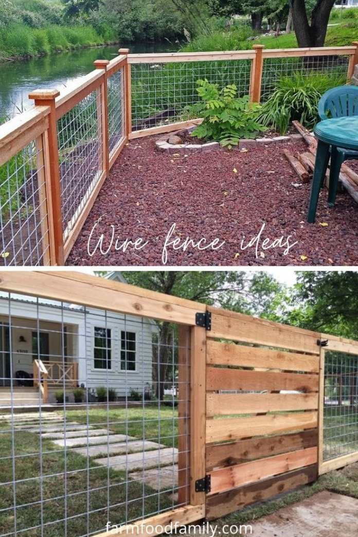 Cheap wire fence ideas for backyard