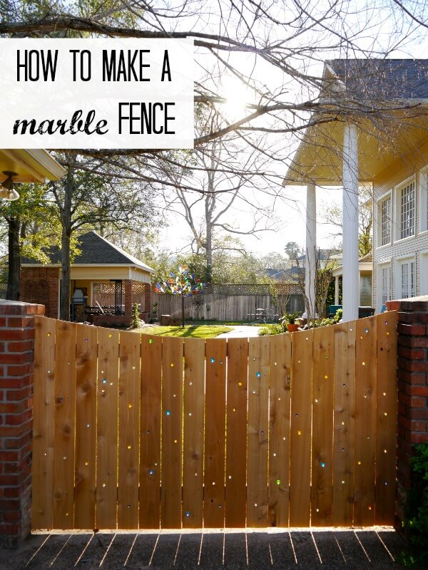 DIY Fence Ideas: Fanciful Glass Marble Embellished Fence