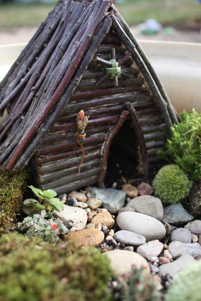 Hand Assembled Bespoke Fairy Lodge | fairy garden accessories | miniture fairy garden ideas inspiration | homemade fairy garden decorations