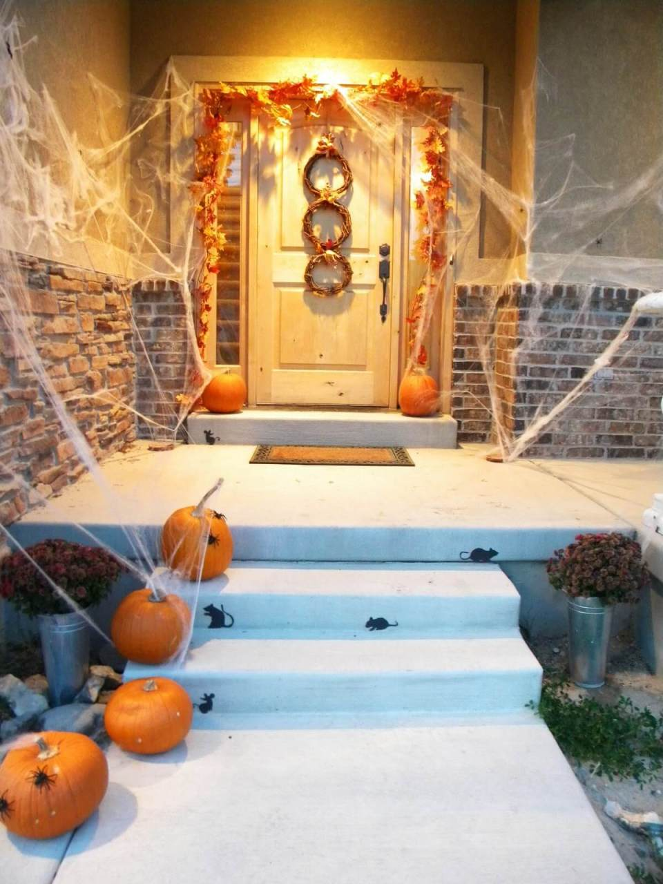 Halloween Door Decoration Ideas: Under Attack