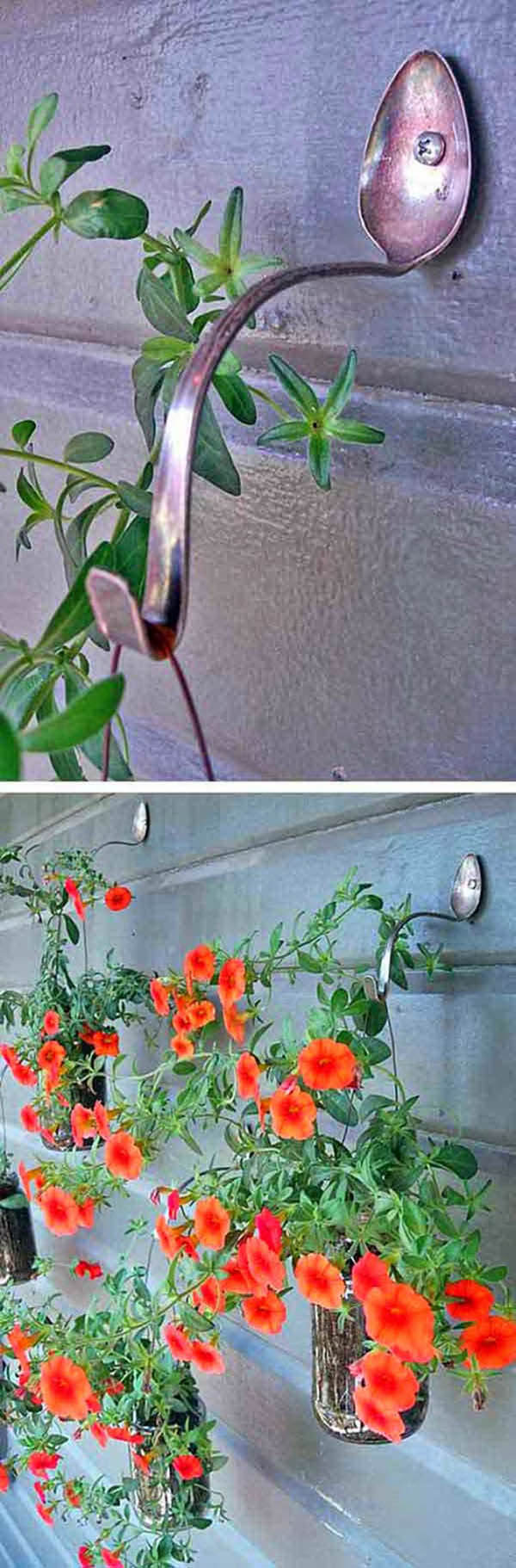 Vintage Garden Decor Ideas: Vintage Spoon Hanging Basket Hooks