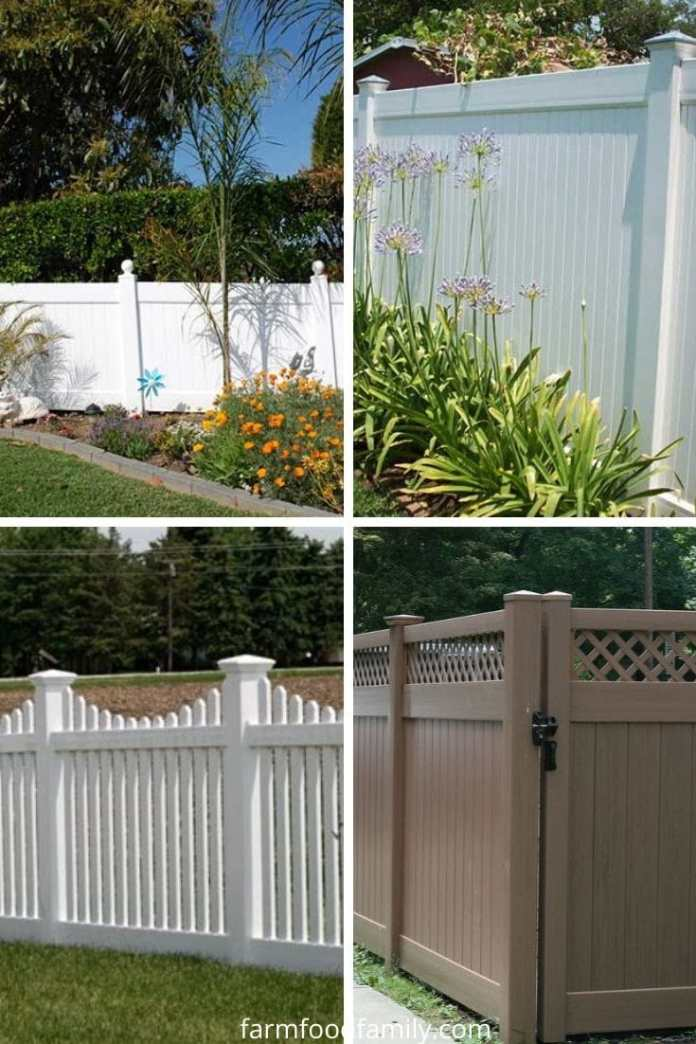 Vinyl privacy fence ideas and designs