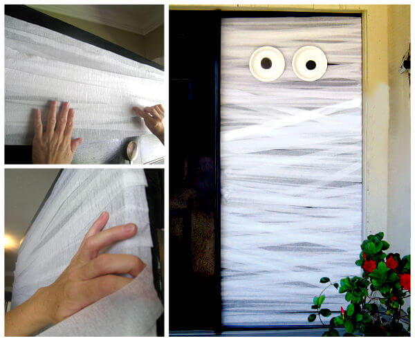 Halloween Door Decoration Ideas: More Mummies!