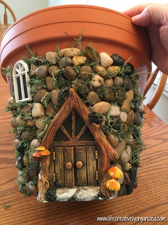 Potted Fairy Cottage Craft Ideas | fairy garden accessories | miniture fairy garden ideas inspiration | homemade fairy garden decorations