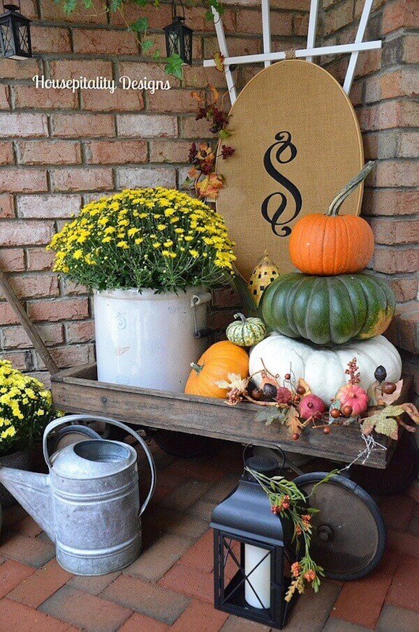 An Homage To Fall Gardening | Fall Porch Decoration Ideas | Porch decor on a budget