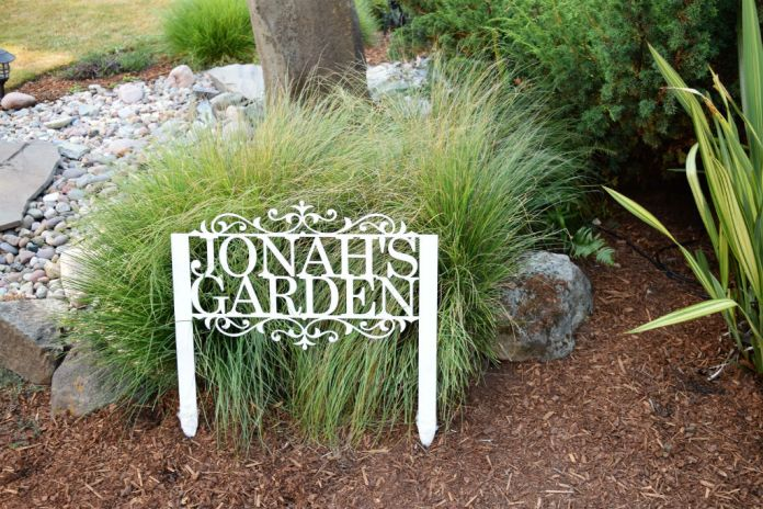Garden Sign Idea with Cutout Letters | Funny DIY Garden Sign Ideas