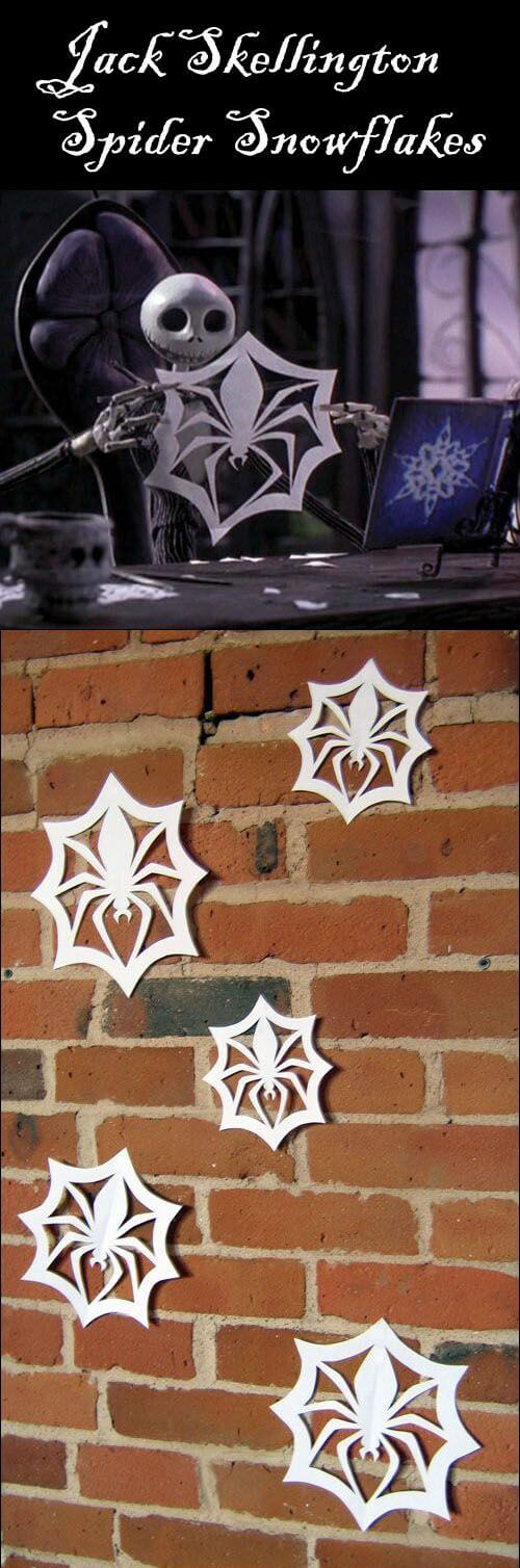Snowflakes Work for Halloween, Too | DIY Indoor Halloween Decorating Ideas