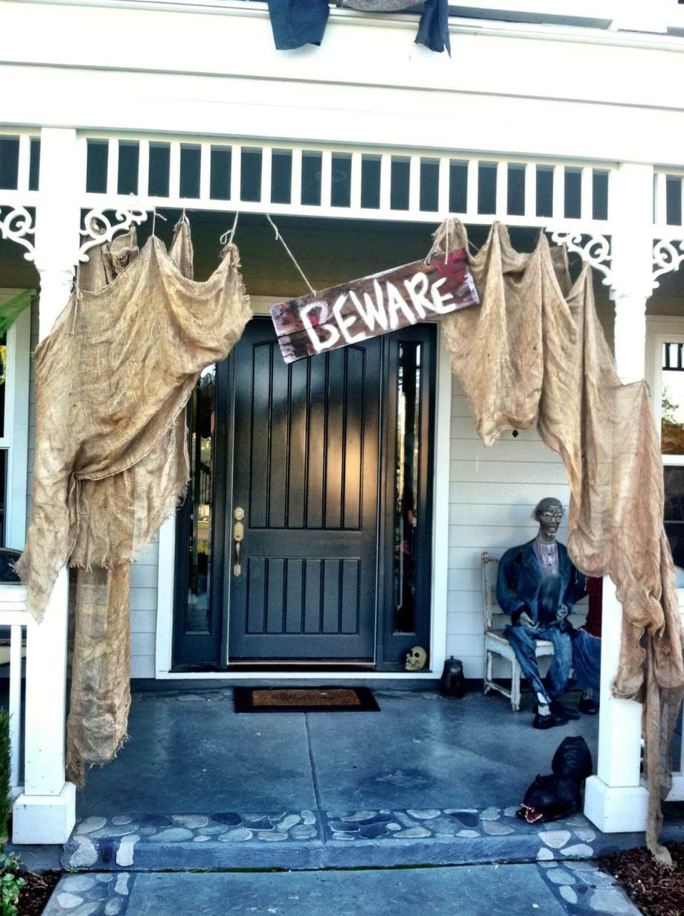 100-Year-Old House Untouched for Years   Scary DIY Halloween Porch Decoration Ideas   vintage halloween porch