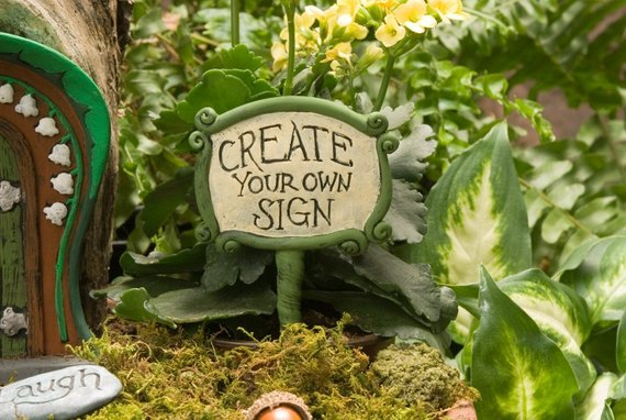 Personalized Fairy Garden Sign | Funny DIY Garden Sign Ideas