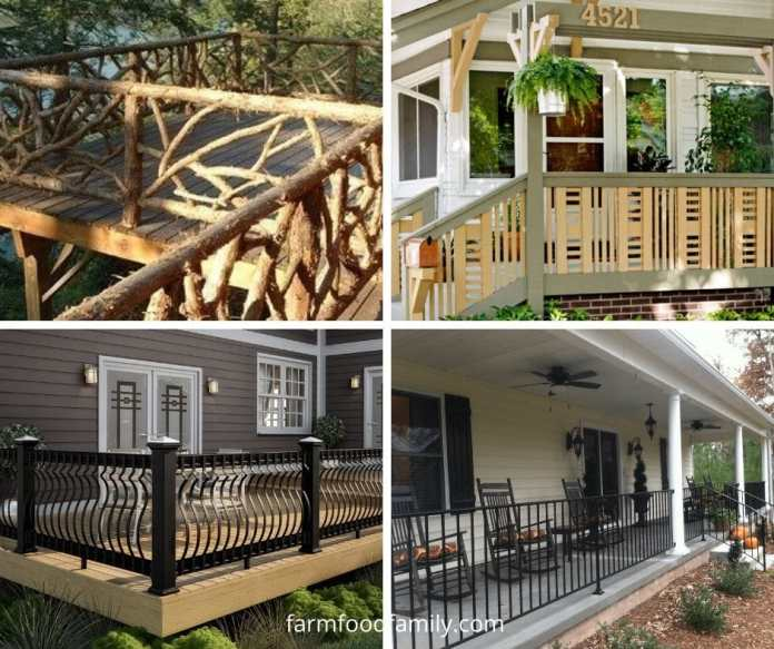 Cheap porch fence ideas and designs