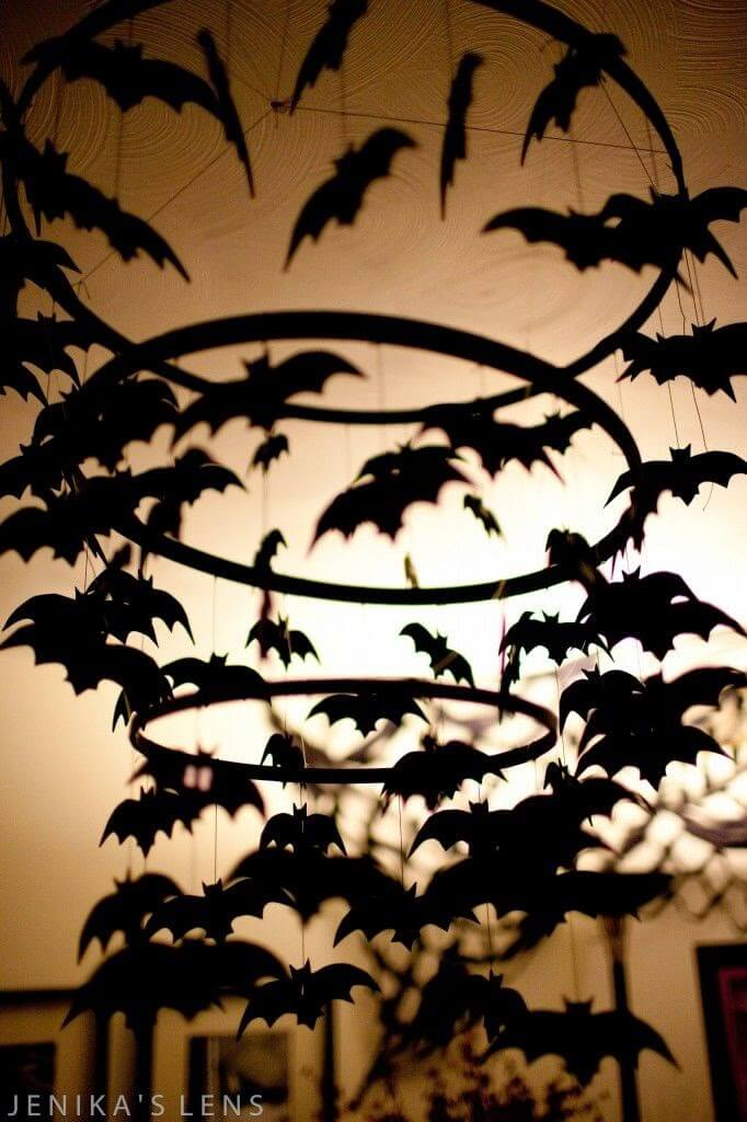 Bat Chandelier Inspires, Delights | DIY Indoor Halloween Decorating Ideas